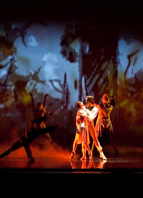 Members of the Bolshoi Ballet perform <I>Oath of the Ushers</I>.<br />© Moanalani Jeffrey. (Click image for larger version)