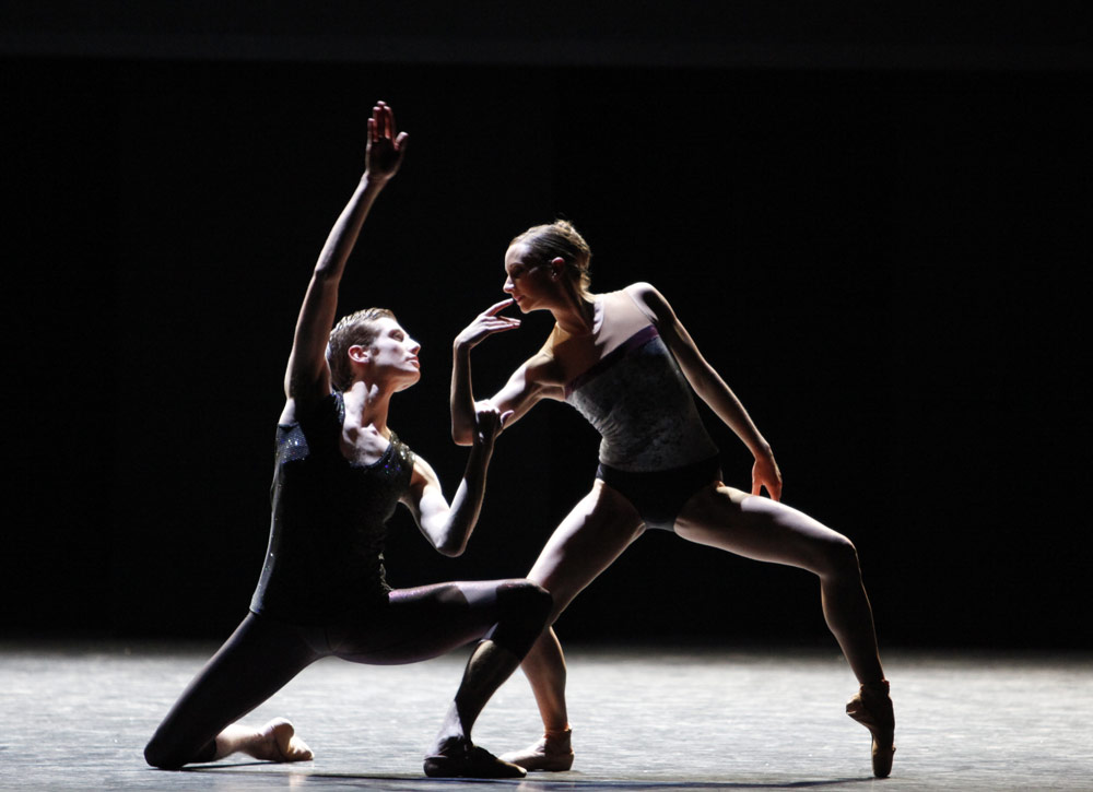 Claire Robertson and Daniel Davidson in William Forsythe's [I]Workwithinwork[/I].<br />© Andrew Ross. (Click image for larger version)