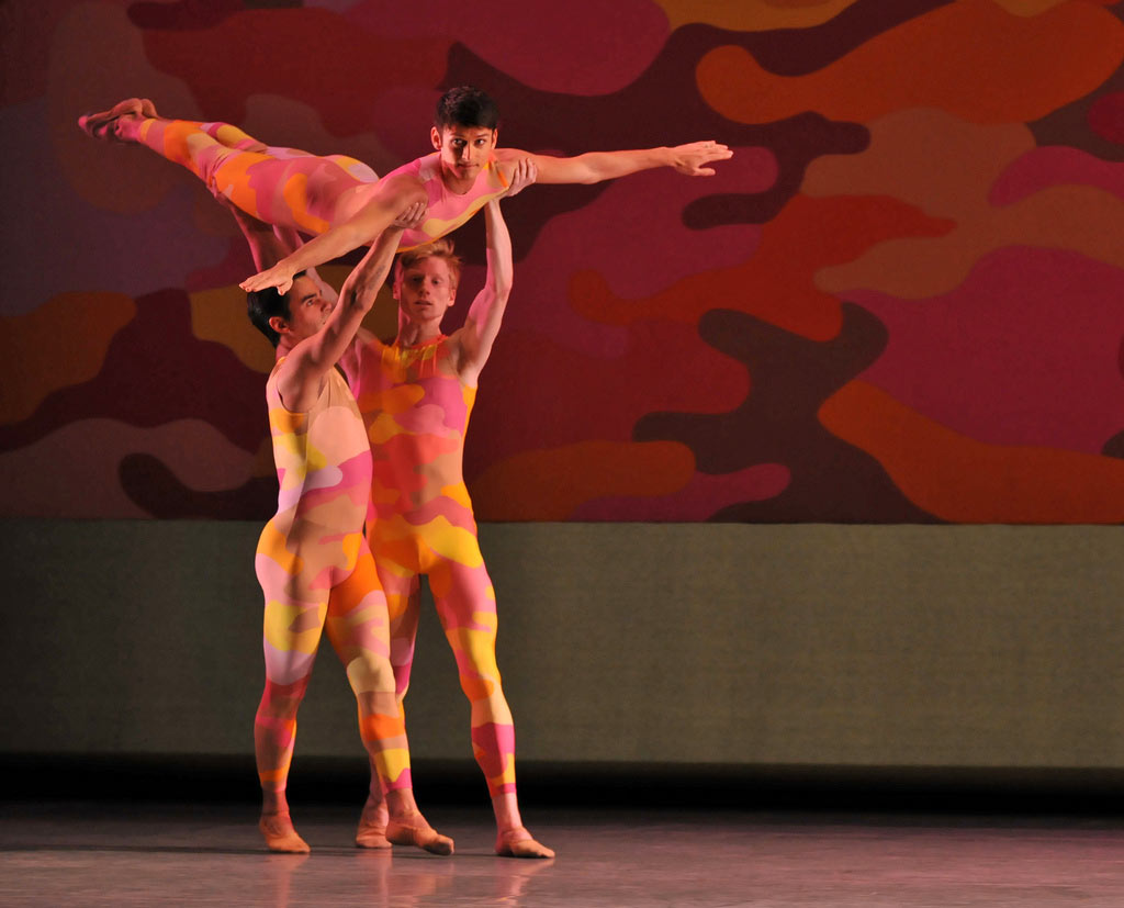 San Francisco Ballet in Morris' <I>Beaux</I>.<br />© Dave Morgan and courtesy of San Francisco Ballet. (Click image for larger version)