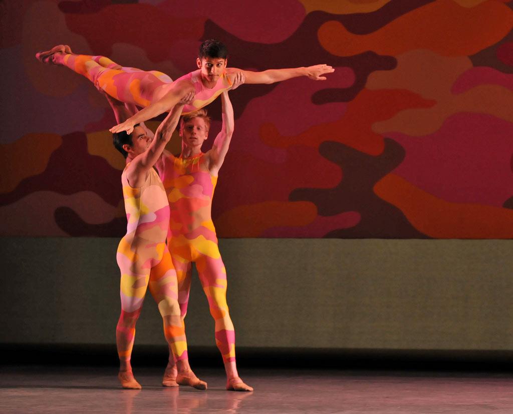 San Francisco Ballet in Morris' <I>Beaux</I>.<br />© Dave Morgan and courtesy of San Francisco Ballet. (Click image for larger version)