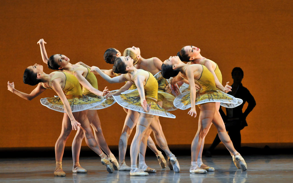 San Francisco Ballet in Possokhov's <I>Classical Symphony</I>.<br />© Dave Morgan and courtesy of San Francisco Ballet. (Click image for larger version)