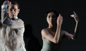 Yuan Yuan Tan and Damian Smith in Wheeldon's Ghosts.© Dave Morgan and courtesy of San Francisco Ballet. (Click image for larger version)