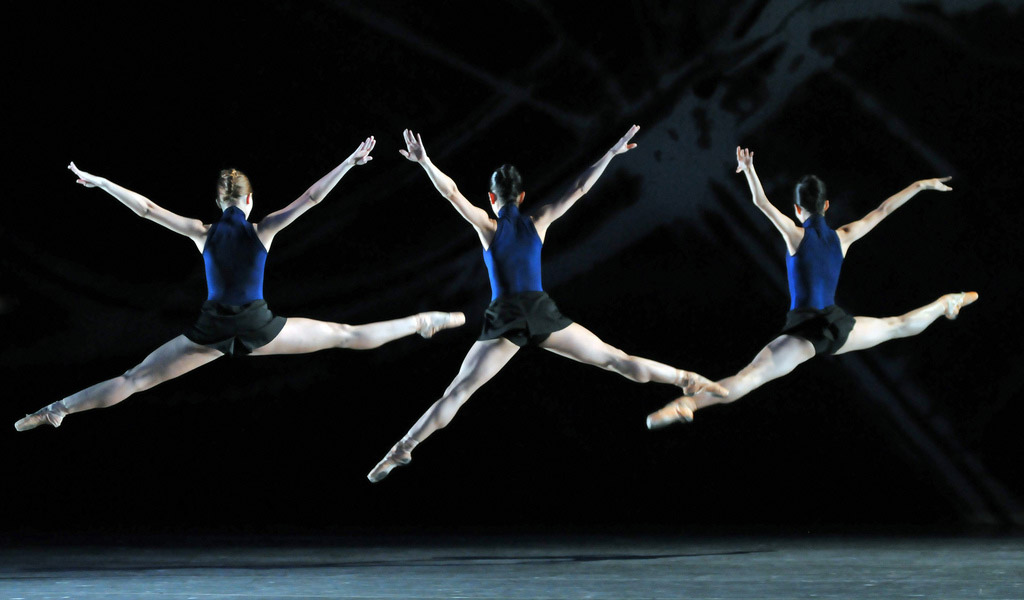 San Francisco Ballet in Page's <I>Guide to Strange Places</I>.<br />© Dave Morgan and courtesy of San Francisco Ballet. (Click image for larger version)