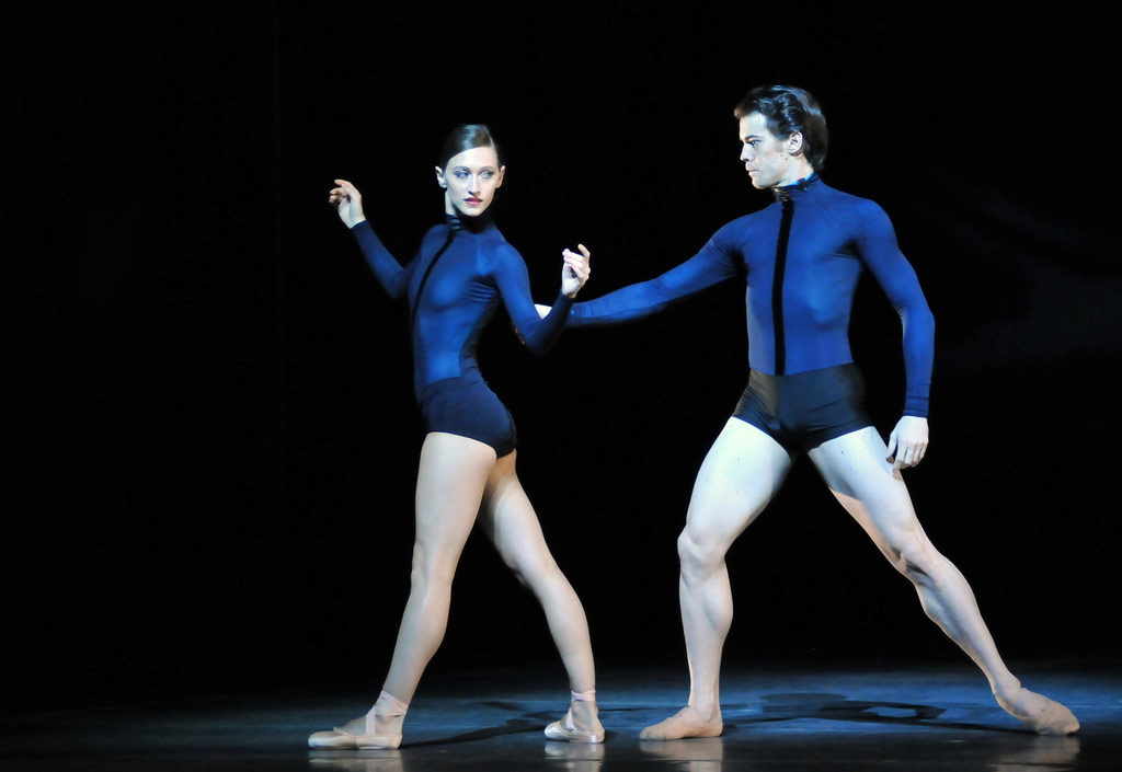 Sarah van Patten and Carlos Quenedit in Page's <I>Guide to Strange Places</I>.<br />© Dave Morgan and courtesy of San Francisco Ballet. (Click image for larger version)
