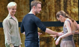 Christopher Wheeldon with dancers Tiit Helimets & Sarah van Patten.© Dave Morgan and courtesy of San Francisco Ballet. (Click image for larger version)