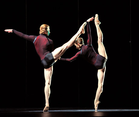 Maria Kochetkova and Gennadi Nedvigin in Page's <I>Guide to Strange Places</I>.<br />© Erik Tomasson. (Click image for larger version)