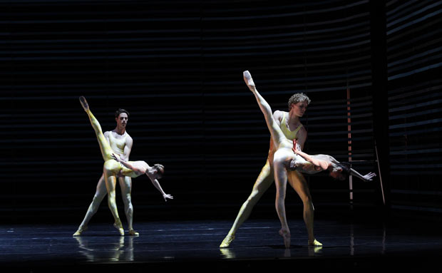 Lana Jones, Rudy Hawkes, Adam Bull and Amber Scott in <I>Gemini</I>.<br />© Jeff Busby. (Click image for larger version)