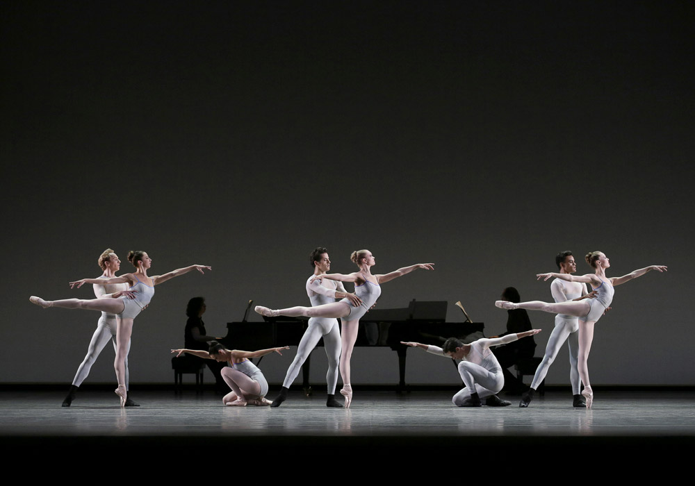 NYCB in Justin Peck's <I>In Creases</I>.<br />© Paul Kolnik. (Click image for larger version)