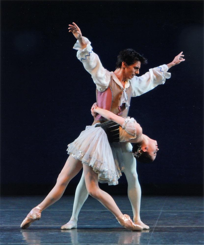 Joaquin de Luz and Megan Fairchild in Divertimento from 'Le Baiser de la Fée'.© Paul Kolnik. (Click image for larger version)