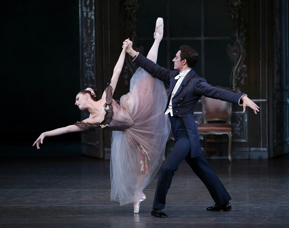 Justin Peck and Tiler Peck in George Balanchine's <I>Liebeslieder Walzer</I>.<br />© Paul Kolnik. (Click image for larger version)