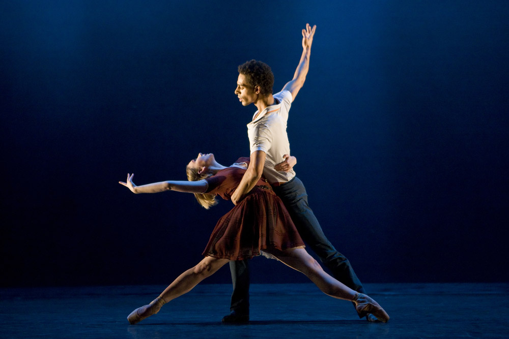 Elisha Willis and Tyrone Singleton in <I>Take Five</I>.<br />© Bill Cooper. (Click image for larger version)