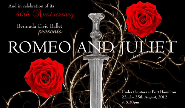 Poster for <I>Romeo and Juliet</I>.<br />© Bermuda Civic Ballet. (Click image for larger version)