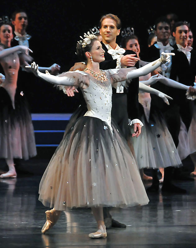 """Lauren Cuthbertson & Nehemiah Kish at a <I>La Valse</I> curtain call as part of the Royal Ballet Tribute to Alicia Alonso, 15 October 2010. (<a href=""""http://www.ballet.co.uk/gallery/rb-theme-and-variations-bill-alicia-alonso"""">more pictures</a>)<br />© Dave Morgan. (Click image for larger version)"""