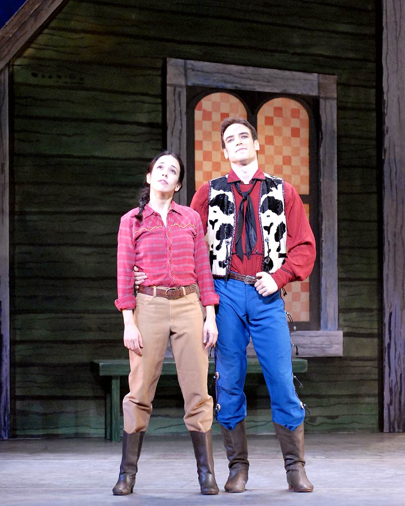 Xiomara Reyes and Sascha Radetsky in <I>Rodeo</I>.<br />© Gene Schiavone. (Click image for larger version)