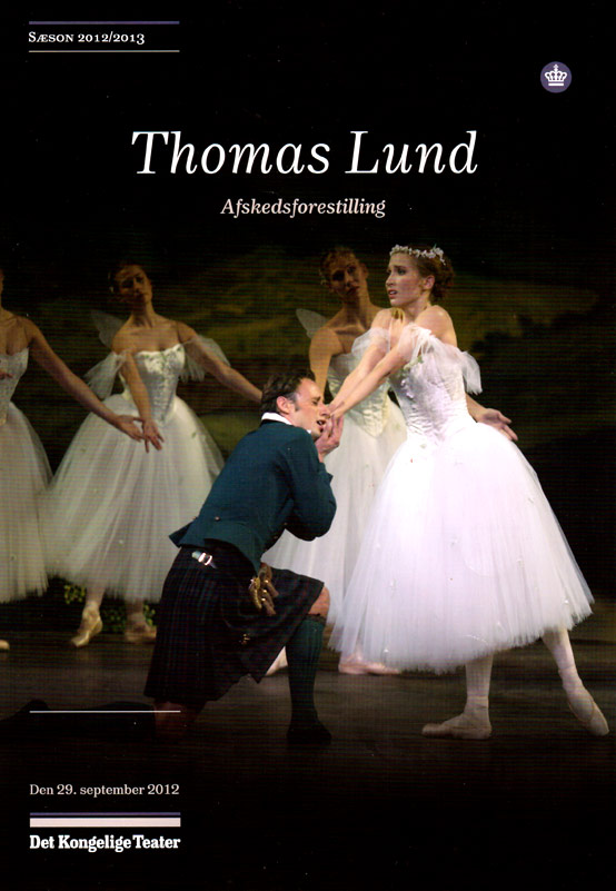 Special programme cover - Thomas Lund and Gudrun Bojesen in La Sylphide.© Huset Mydtskov. (Click image for larger version)