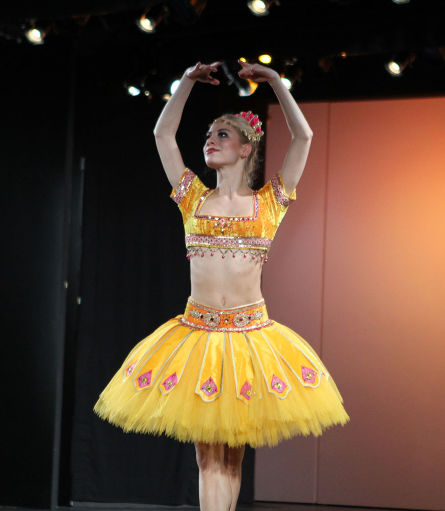 Lena-Maria Gruber dressed for the pas d'action in <I>La Bayadere</I>.<br />© Jacklyn Meduga. (Click image for larger version)