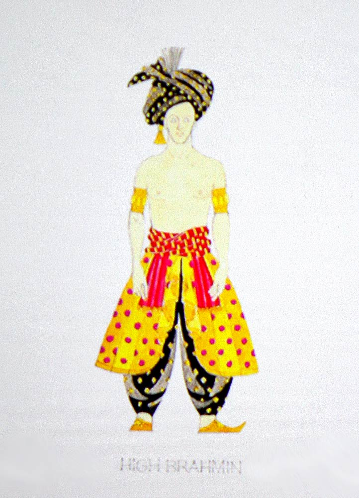 One of Richard Hudson's costume designs - for the High Brahmin in <I>La Bayadere</I>.<br />© Jacklyn Meduga. (Click image for larger version)
