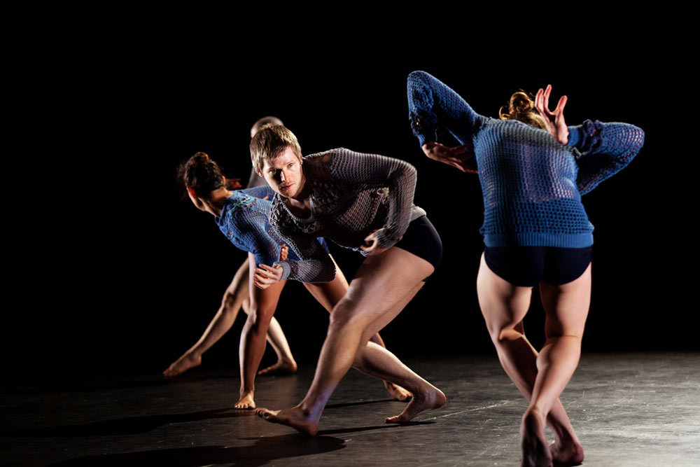 Lucy Guerin Inc dancers in <I>Weather</I>.<br />© Leah Robertson. (Click image for larger version)