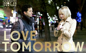 Cindy Jourdain and Arionel Varga in Love Tomorrow poster.© Minyahil K Giorgis. (Click image for larger version)