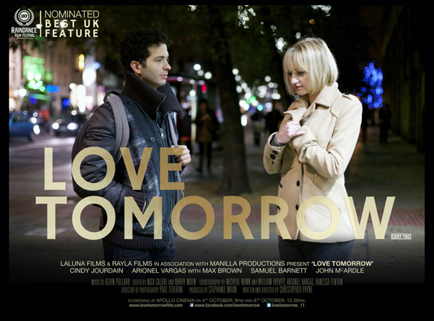 Cindy Jourdain and Arionel Varga in <I>Love Tomorrow</I> poster.<br />© Minyahil K Giorgis. (Click image for larger version)