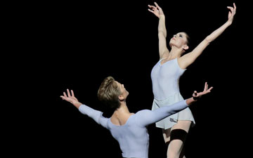 Megan Fairchild and Chase Finlay in George Balanchine's Duo Concertant.© Paul Kolnik. (Click image for larger version)