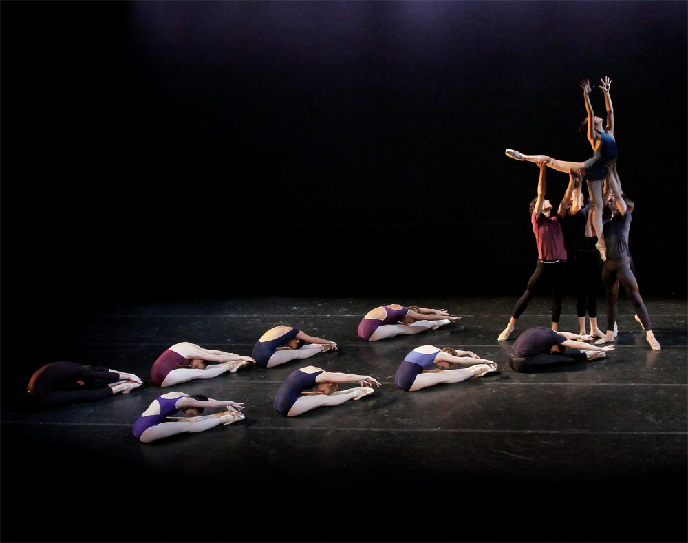 School of American Ballet Students in <I>Tales of a Chinese Zodiac</I>, the original workshop piece that has been developed into <I>Year of the Rabbit</I>.<br />© Paul Kolnik. (Click image for larger version)