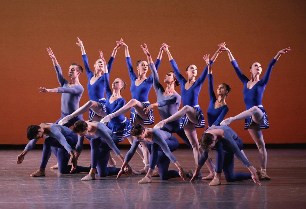 New York City Ballet  in <I>Year of the Rabbit</I>.<br />© Paul Kolnik. (Click image for larger version)