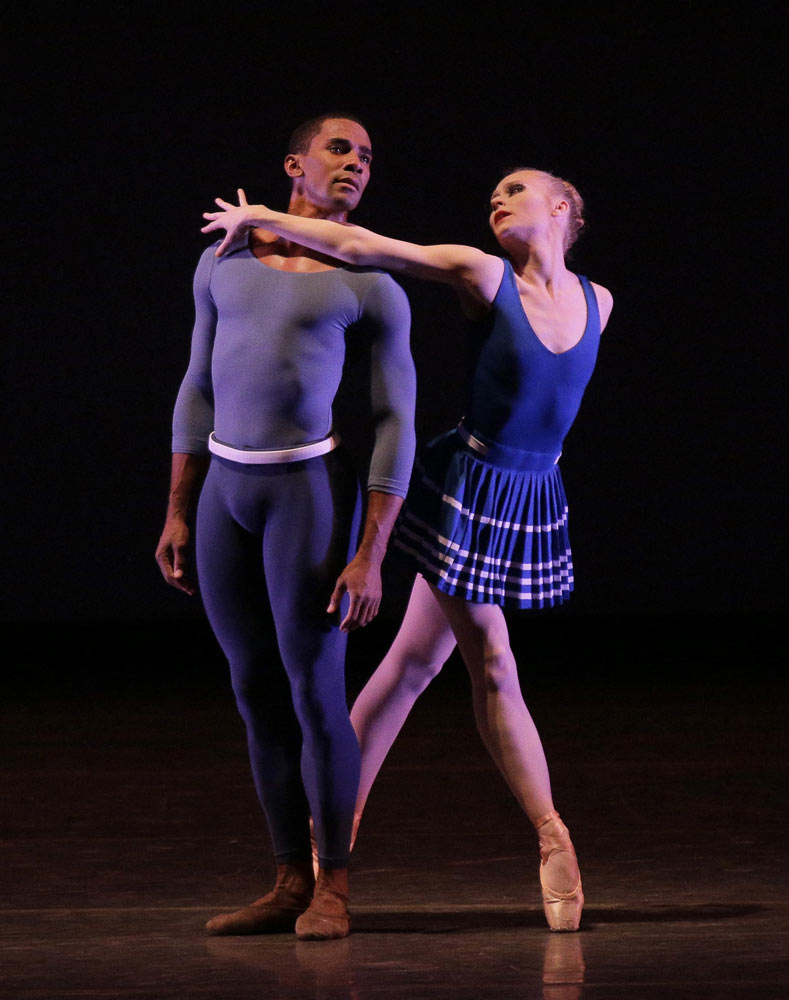 Janie Taylor and Craig Hall in Justin Peck's <I>Year of the Rabbit</I>.<br />© Paul Kolnik. (Click image for larger version)