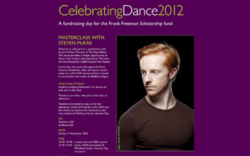 Fundraising day for the Frank Freeman Scholarship fund - poster.© Royal Academy of Dance. (Click image for larger version)