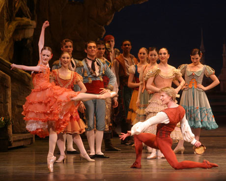 Ethan Stiefel and Gillian Murphy in ABT's <I>Don Quixote</I>.<br />© Rosalie O'Connor and courtesy of RNZB. (Click image for larger version)
