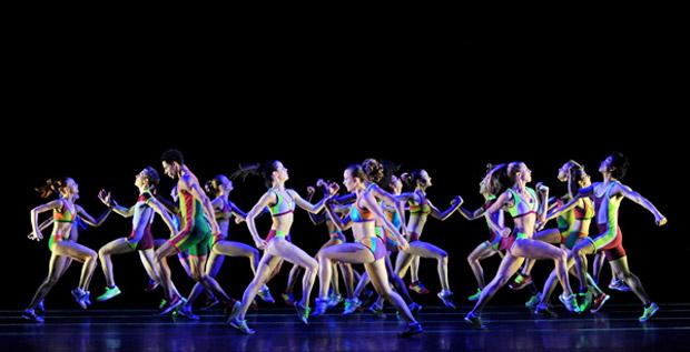 Artists of Birmingham Royal Ballet in <I>Faster</I>.<br />© Roy Smiljanic