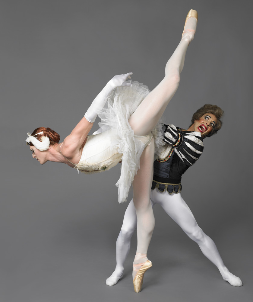 Trocks in <I>Swan Lake</I>.<br />© Les Ballets Trockadero de Monte Carlo. (Click image for larger version)
