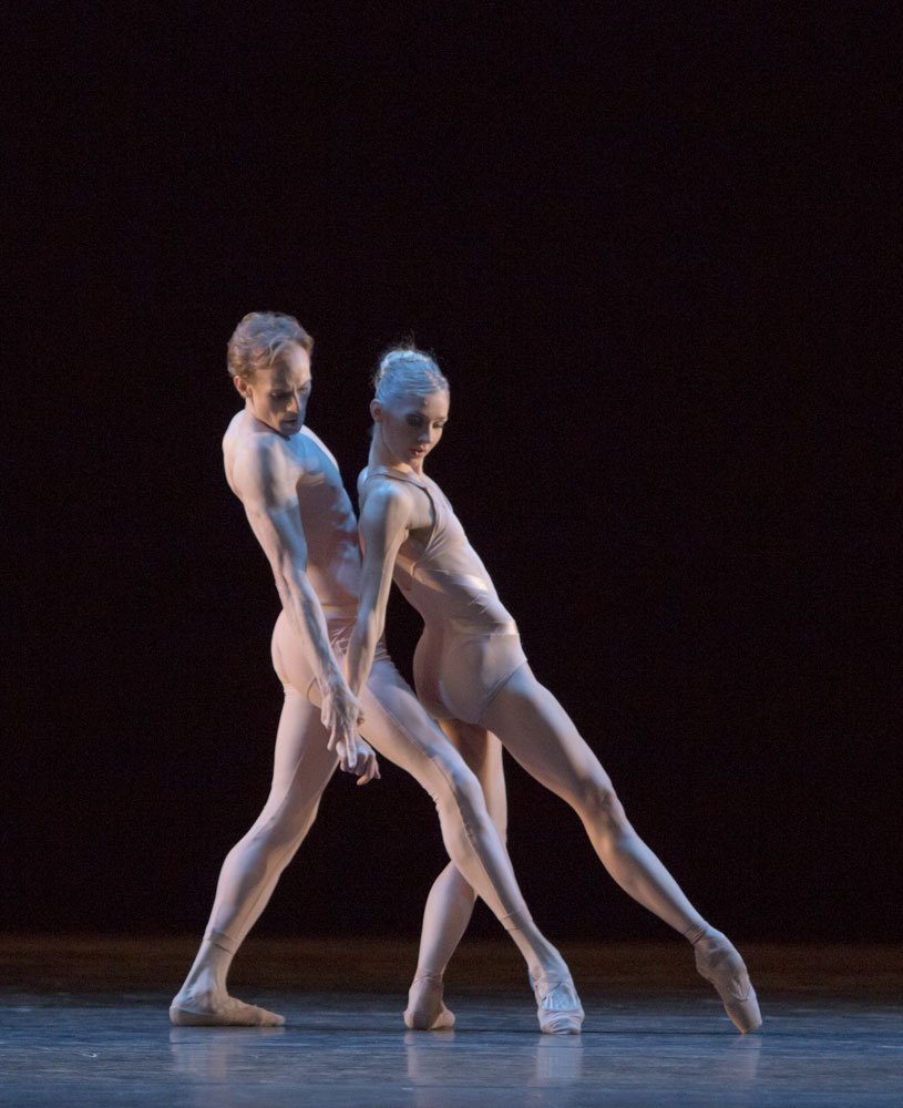 Edward Watson and Melissa Hamilton in Christopher Wheeldon's <I>Fool's Paradise</I>.<br />© Andrej Uspenski, by kind permission of the Royal Opera House. (Click image for larger version)