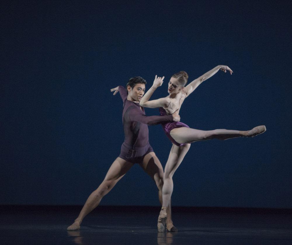 Marianela Nuñez and Ryoichi Hirano in Liam Scarlett's <I>Viscera</I>.<br />© Andrej Uspenski, by kind permission of the Royal Opera House. (Click image for larger version)