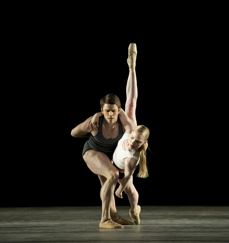 Sarah Lamb and Ricardo Cervera in Wayne McGregor's <I>Infra</I>.<br />© Bill Cooper, by kind permission of the Royal Opera House. (Click image for larger version)
