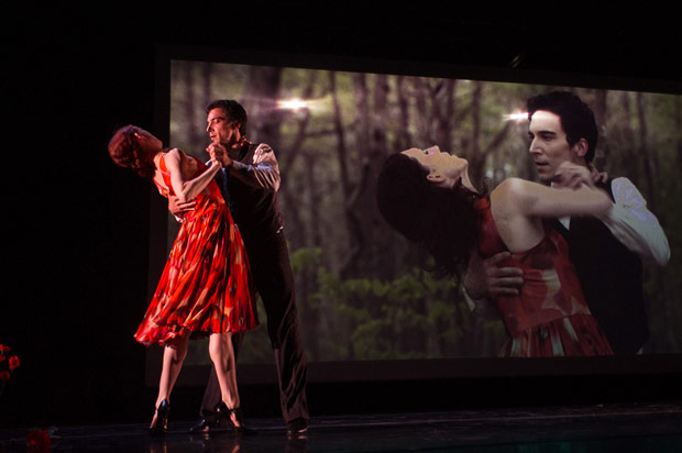 Gabrielle Lamb and Jens Weber in <I>Within (Labyrinth Within)</I>.<br />© Christopher Duggan. (Click image for larger version)