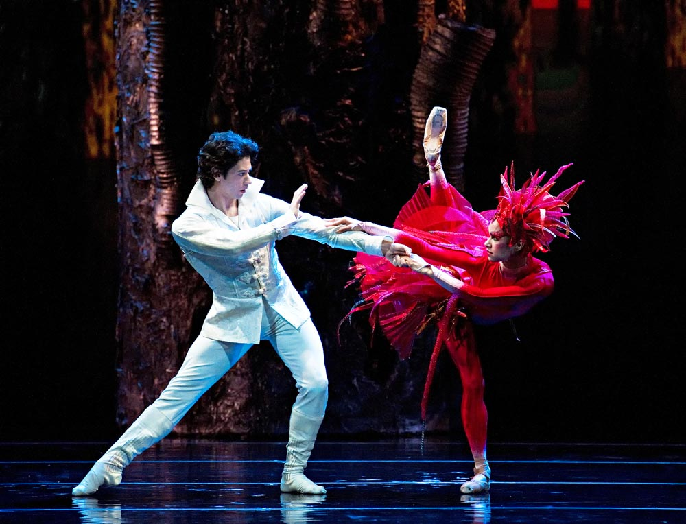 Herman Cornejo and Misty Copeland in <I>Firebird</I>.<br />© Gene Schiavone. (Click image for larger version)