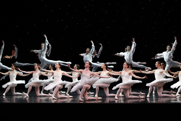 Austlian Ballet in David McAllister's <I>Overture</I>.<br />© Jeff Busby. (Click image for larger version)