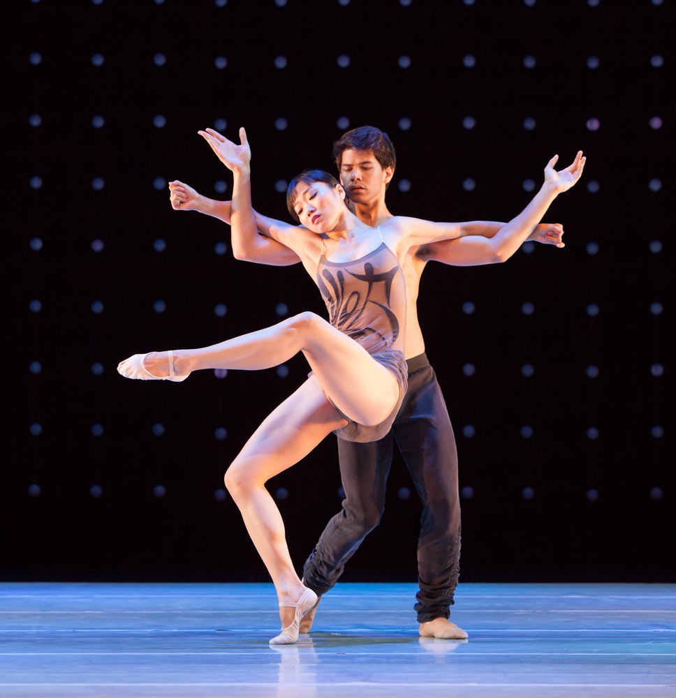 Zack Tang and Yujin Kim in <I>Constellation</I>.<br />© Margo Moritz. (Click image for larger version)