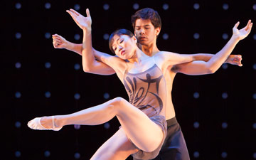 Zack Tang and Yujin Kim in Constellation.© Margo Moritz. (Click image for larger version)