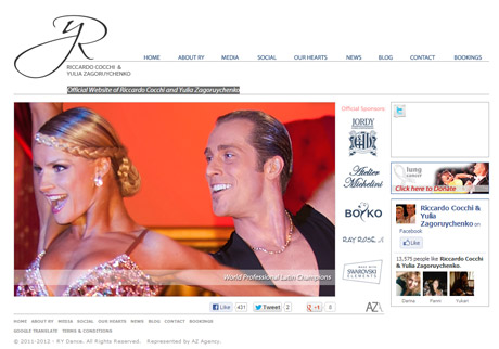 Official Website of Riccardo Cocchi and Yulia Zagoruychenko at rydance.com