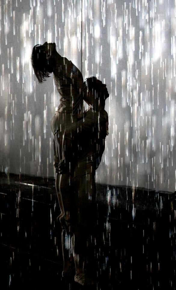 Wayne McGregor | Random Dance perform in the <I>Rain Room</I>.<br />© Ravi Deepres & Alicia Clarke. Rain Room, Random International 2012. Courtesy of Barbican Art Gallery.