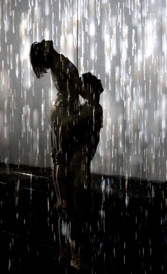 Wayne McGregor | Random Dance perform in the <I>Rain Room</I>.<br />© Ravi Deepres & Alicia Clarke. Rain Room, Random International 2012. Courtesy of Barbican Art Gallery.