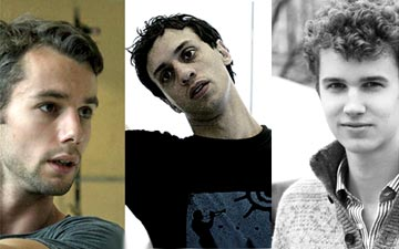 Choreographers Alex Whitley, Paolo Mangiola and Robert Binet.© respectively ROH, ROH, Kiran West.