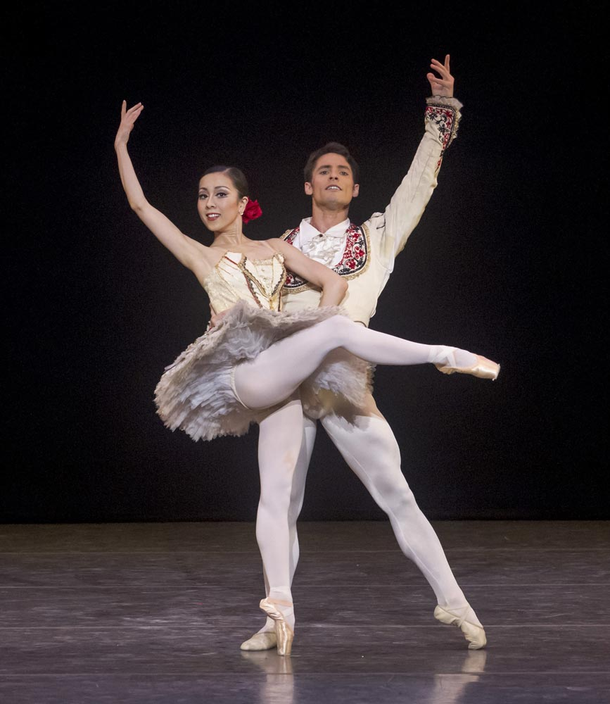Junna Ige and Maykel Solas in <I>Don Quixote</I>.<br />© Robert Shomler. (Click image for larger version)