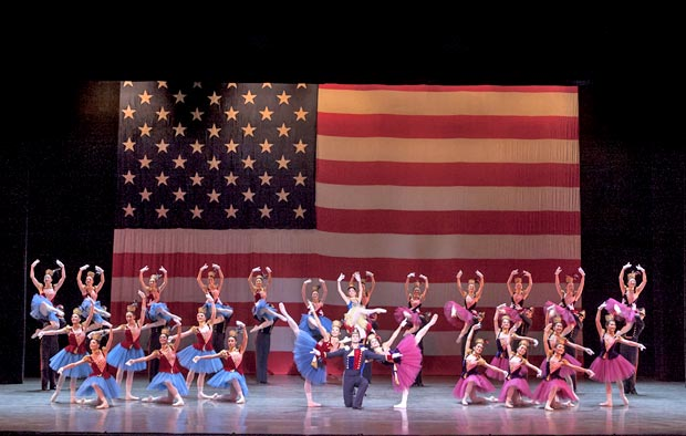 Ballet San Jose in <I>Stars and Stripes</I> – <I>The Fifth Campaign</I>.<br />© Robert Shomler. (Click image for larger version)