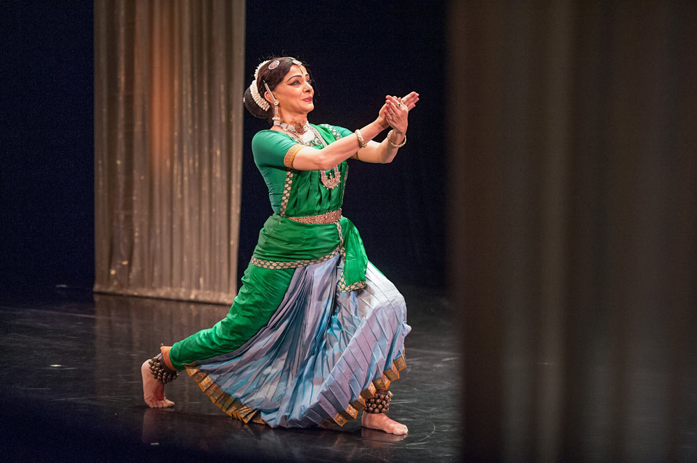 Malavika Sarukkai performs in <I>The Spirit of the Body</I>.<br />© Stephanie Berger. (Click image for larger version)