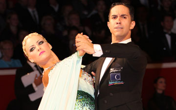 Emanuel Valeri and Tania Kehlet, Amateur Ballroom winners.© Thomas Morton. (Click image for larger version)