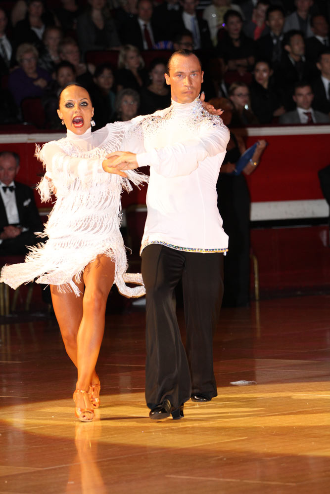 Sergey Surkov and Melia, third in Professional Latin.<br />© Thomas Morton. (Click image for larger version)