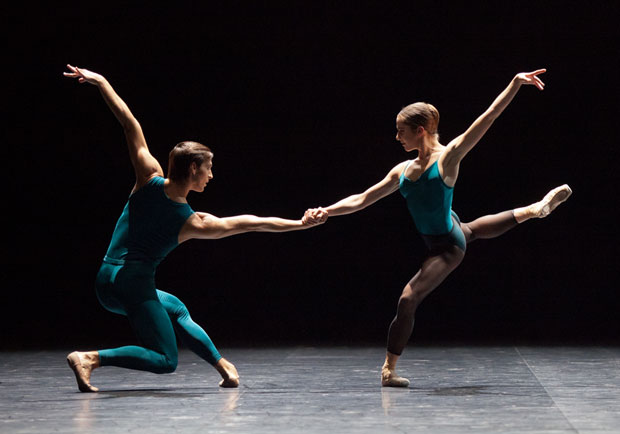 Valentine Colasante and Marc Moreau - <I>In the Middle, Somewhat Elevated</I>.<br />© Anne Deniau / Opéra national de Paris. (Click image for larger version)